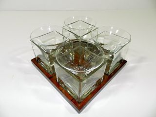 MARTINI CHILLER GLASSES 4 STEMLESS COCKTAIL CORDIAL CLEAR GLASS CAVIAR