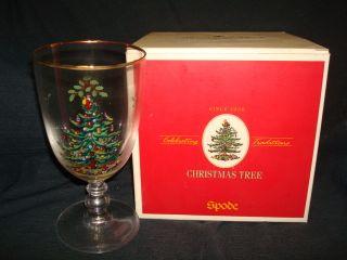 Christmas Tree Pedestal Glasses in Original Box Water Glasses