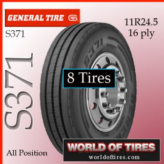 Tires General S371 11R24 5 16 Ply Semi Truck Tire 11R24 5 11R24