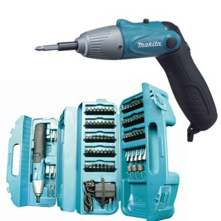 Makita 6723DW Cordless Screwdriver + 80 piece bit set + case