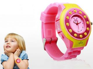 GSM Cell Phone Wrist Watch Kids Children GPS AGPS Tracker SOS