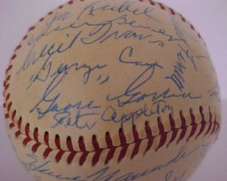 TIMERS GAME SIGNED BALL DIZZY DEAN JOE CRONIN GOOSE GOSLIN + 26 MORE