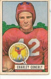 1951 Bowman Vintage Football 40 Bob Waterfield QB Los Angeles Rams