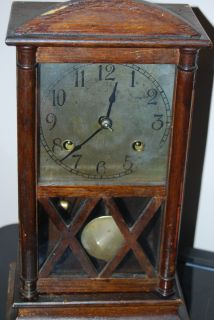 Antique New Haven Kitchen Mantel Clock with Chime Works Unique