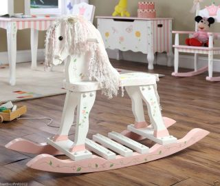 Princess & Frog Coordinated Girls Rocking Horse Riding Toy W 7504A