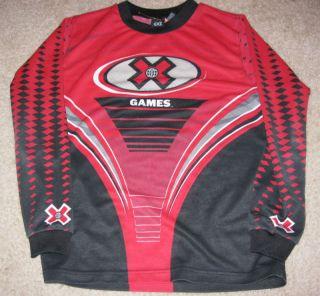 BMX x Games Red Boys Youth Jersey Bike Skate Shirt L