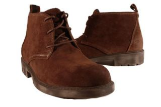Skechers Red Brown Dresser Alfred Boots Mens Shoes