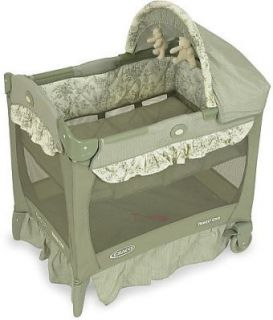 Graco Pack n Play Travel Lite Mini Windsor Portable Crib Bassinet Sage