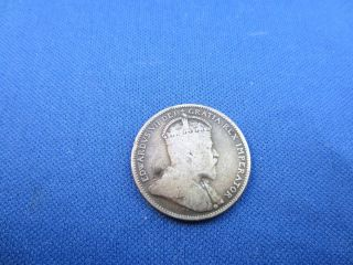 1909 King Edward VII Silver Quarter Canada