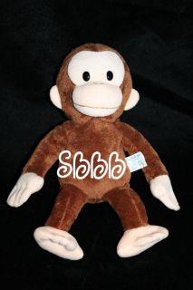12 Applause Plush Curious George Brown Monkey Cartoon Toy Stuffed