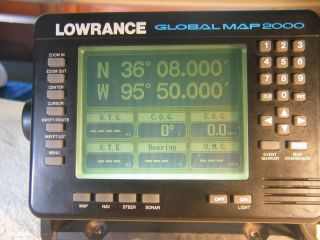 Lowrance Global Map 2000 The Companion to LMS 350 A Sonar and GPS