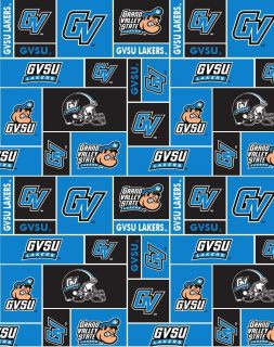 Grand Valley State University Lakers Fleece Fabric Print by The Yard