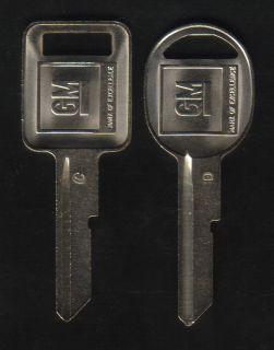 Pontiac 1968 1972 1976 1980 GM Key Blanks