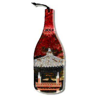 Wine Bottle Shaped Glass Cutting Board Custom Photo