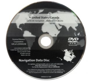 New GMC Chevrolet Chevy Cadillac Navigation GPS Nav Map Disc Disk DVD