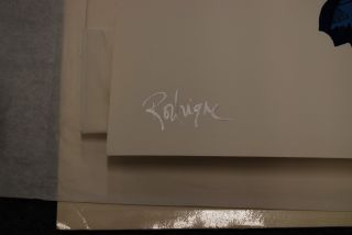 FTI George Rodrigue Blue Dog City Slicker RARE Print 1998 Artist