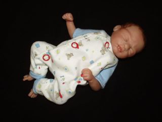 OOAK Hand Sculpted Mini Baby Boy Doll by Jenny Raymond 3 Day Auction