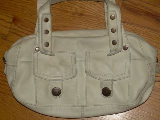 in Very Good Condition Marc Jacobs Off White Leather Hand Bag