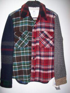 Gerald Stewart Fidelity Woolrich Fabric CPO Wool Shirt Jacket Size S M