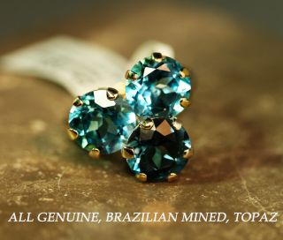 Brand New 14k Gold London Blue Swiss Blue Topaz Ring
