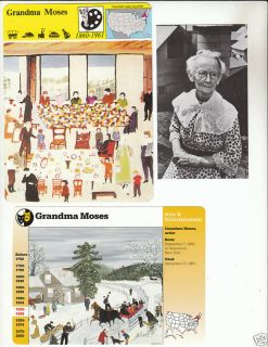 Grandma Moses Painter Artist Story of America 3 Cards