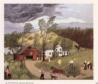 Grandma Moses Print The Thunderstorm