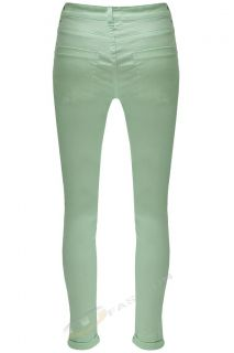 Womens Ladies Ankle Grazer Slim Skinny Fit Cotton Trousers Jeans 8 10