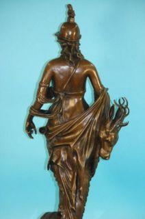 Signed H Gerhard Diana The Huntress Bronze Sculpture