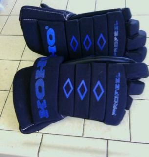 profeel genuin leather mens ice hockey gloves 14 senior great shape