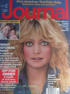 Goldie Hawn January 1982 Ladies Home Journal