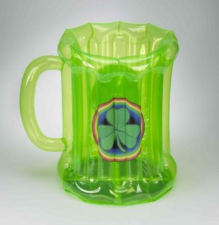 Beer Mug Inflatable Cooler 2 Tall Party Prop Blow Up Green Bar