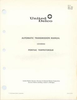 this rare original 69 page united delco gm transmission service repair