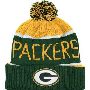 Green Bay Packers Calgary Pom Top Cuff Knit Hat