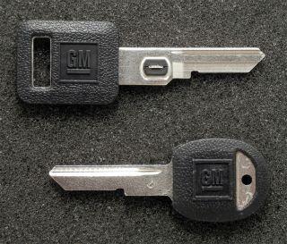 GM Buick Cadillac Chevrolet Pontiac OEM Vats Key Secondary D Key Blank