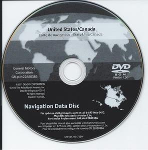 2012 GM Nav DVD for 07 1DTS SRX Avalanche Suburban Tahoe Yukon H2