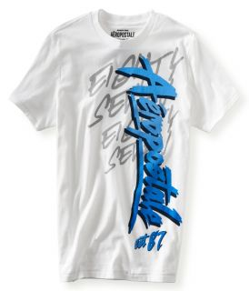 Aeropostale Mens Aero Script Eighty Seven Graphic T Shirt