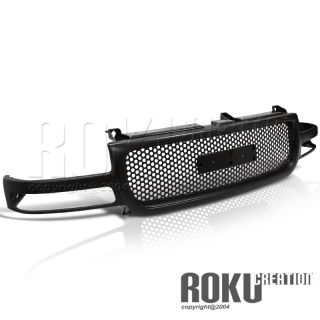 GMC Sierra Front Hood 1pc Round Grill Black Grille 1500 2500