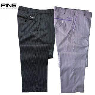 Golf Pants Men Ping 2012 Purify Funky Pin Stripe White Thistle or