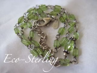 RARE Retired N1216 Silpada Sterling Silver Green Peridot Necklace