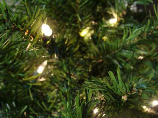 Pre Lit Canadian Pine Artificial Christmas Tree Clear Lights