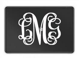 Monogram Laptop Decal Laptop Skin