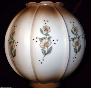 Sale Antique Milk Glass Gone with The Wind Parlour Lamp Shade