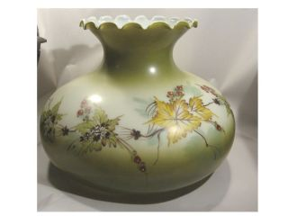 Lamp Shade / Globe Gone With The Wind Hand Painted Glass GWTW Vintage