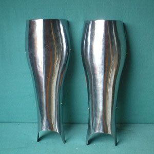 AH6027 Medieval Heavy Steel Greaves for Leg Protection