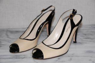 Gianvito Rossi Cream Black Pumps Heels Shoes Sz 36 6