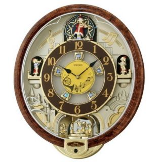 2011 Animated Musical Christmas Wall Clock Seiko Melodies in Motion