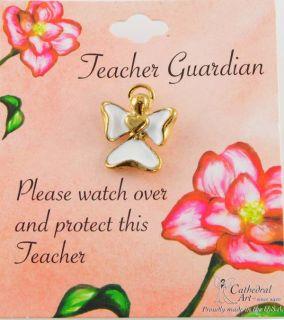 14kt Gold EP Teachers Guardian Angel Clutch Pin