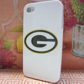 Green Bay Packers White Rubber Skin Case Phone Cover for Apple iPhone