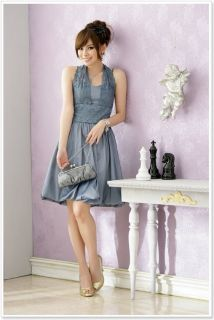 A1188 New Japan Korea Fashion Grey Elegant Lace Sleeveless Bubble