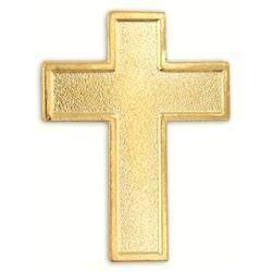 Gold Plated Cross Lapel Pin Crucifix Christian Jesus
